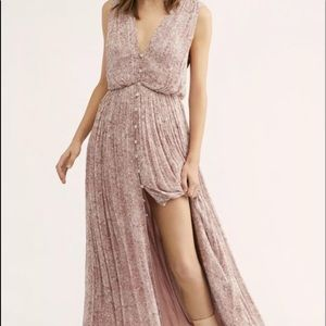Free People Dress Floral Print Button Swingy 12